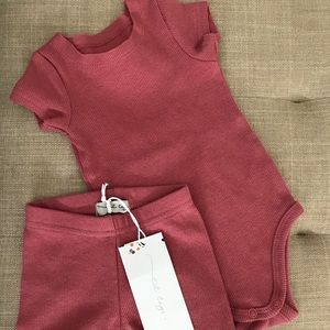 NWT Lil Legs watermelon ribbed outfits